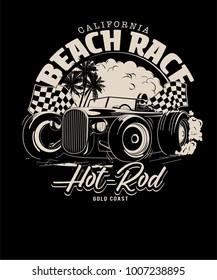 vector hot rod racing illustration