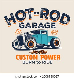 vector hot rod truck illustration