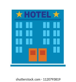 vector hotel Building - modern hotel or residential apartment building