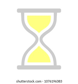 vector hourglass illustration - sand timer symbol - timer sign