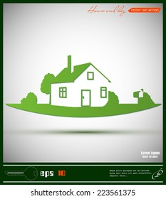 Vector house icon illustration eps 10