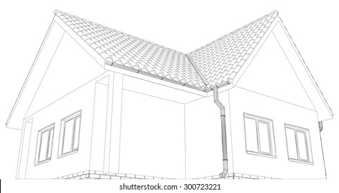 New House Drawing Images Stock Photos Vectors