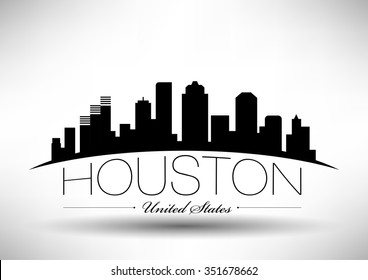 Vector Houston Skyline Design