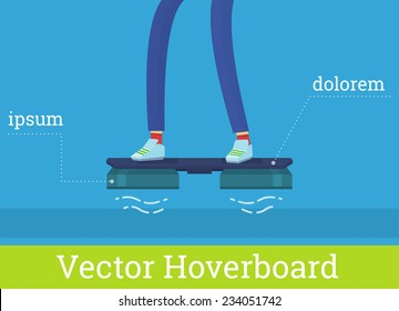 Vector hover board new technology flying skate flat
