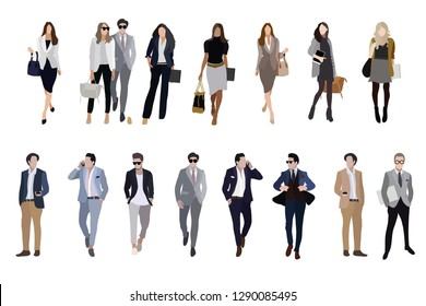 vector human character.business people.man and woman.