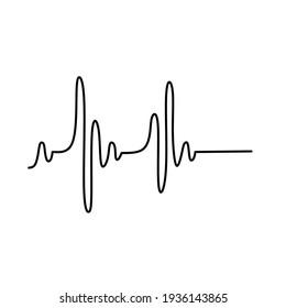 vector of human heart rate meter
