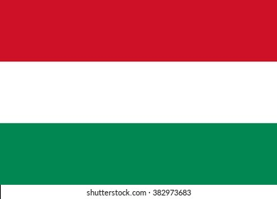 Vector of Hungarian flag.