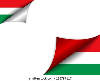 Vector - Hungary Country Flag Turning Page