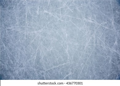 Vector of ice background with marks from skating and hockey