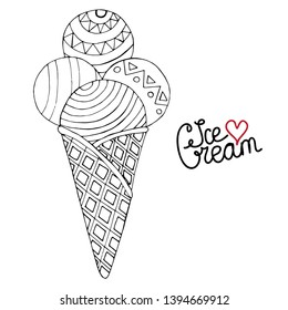vector ice cream coloring book 260nw