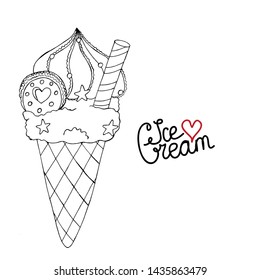 Dessert Colouring Pages Images Stock Photos Vectors