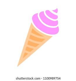 vector ice cream cone illustration - icecream summer sweet isolated icon