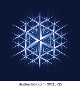 Vector ice crystal snow flake