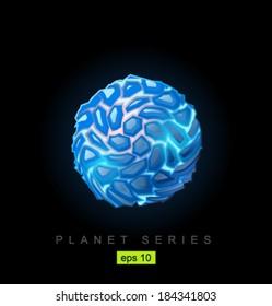 Vector ice planet