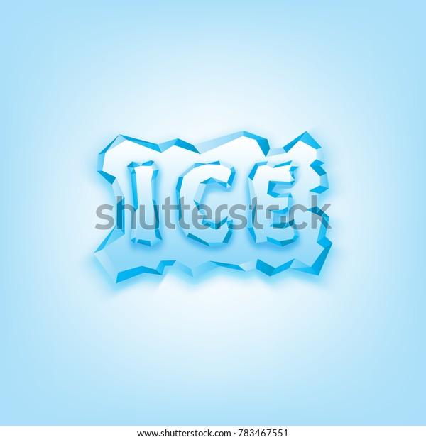 Vector ice text design