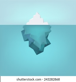Vector iceberg illustration