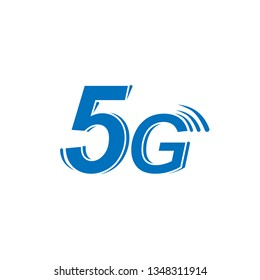 Vector icon 5G new generation high-speed internet