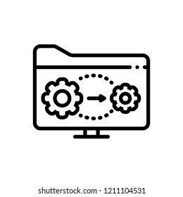 Vector icon for active directory