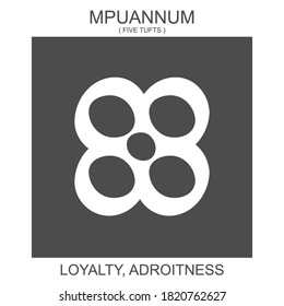 vector icon with african adinkra symbol Mpuannum. Symbol of loyalty and adroitness
