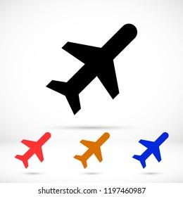 Vector icon airplane 10 EPS