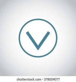 Vector icon arrow down