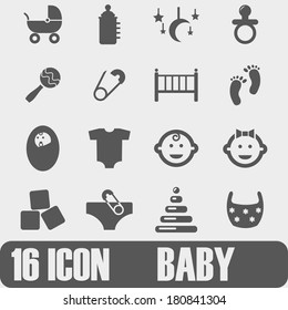 Vector Icon BABY On white background