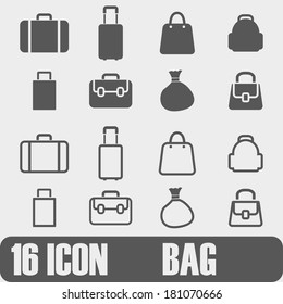 Vector  Icon Bag  On white background