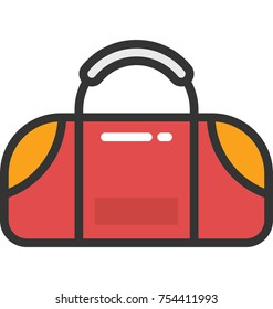Vector icon of a bag, representing gym bag in this pack