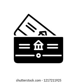 Vector icon for bankbook