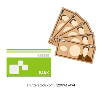 Vector icon for bankbook.Business and finance.