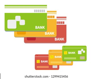 Vector icon for bankbook.Vector credit card. Business and finance.