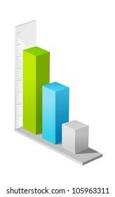 vector icon bar graph