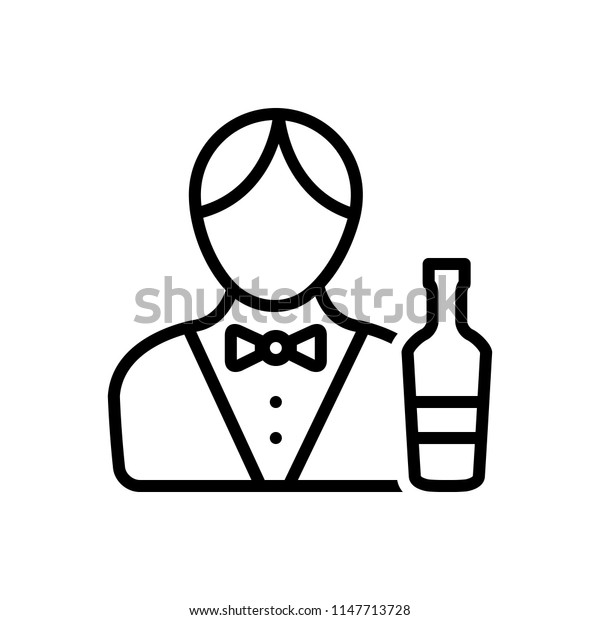 Vector icon for bartender