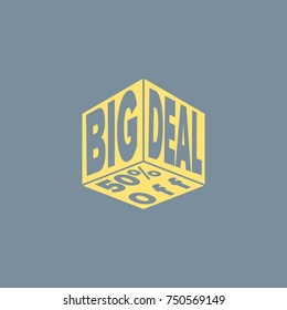 Vector icon of Big Deal. Eps-10.