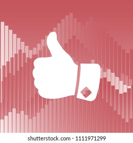 Vector icon, big finger,thumbs up icon