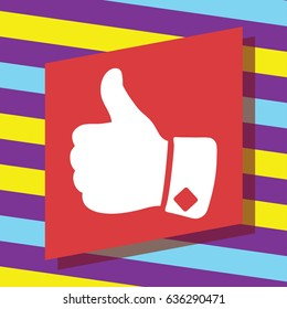 Vector icon, big finger,thumbs up icon. Flat style for graphic and web design, Modern simple vector sign. Internet concept. Trendy symbol for website design web button, mobile app.