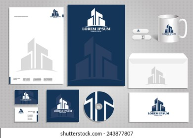 vector icon building, architectural firm logo, corporate design styling for the firm