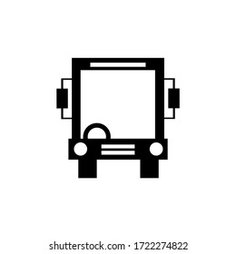 Vector icon of a bus vehicle with EPS format 10