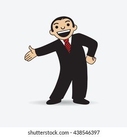 Vector icon of Businessman or Salesman