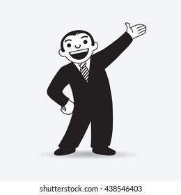 Vector icon of Businessman or Salesman