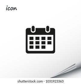Vector icon calendar on a wrapped silver sheet
