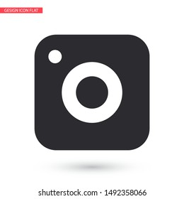 vector icon camera . Lorem Ipsum Illustration design