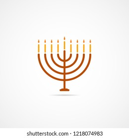 Vector icon of the candle holder for Hanukkah