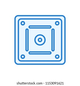 Vector Icon Of Carom Board Linear Style
