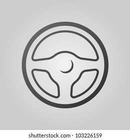 Vector icon of a car's steering wheel