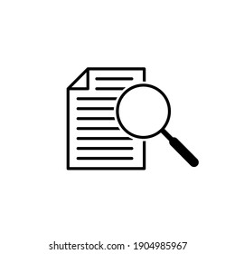 vector icon case study on white background. Stock vector