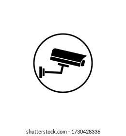 Vector icon of cctv sign on eps 10