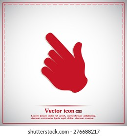 Vector icon click. hand icon pointer