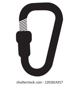 Vector icon with climbing carabiner