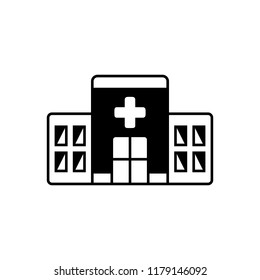 Vector icon for clinic